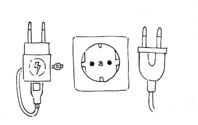 Gambar Sketsa Alat Elektronik