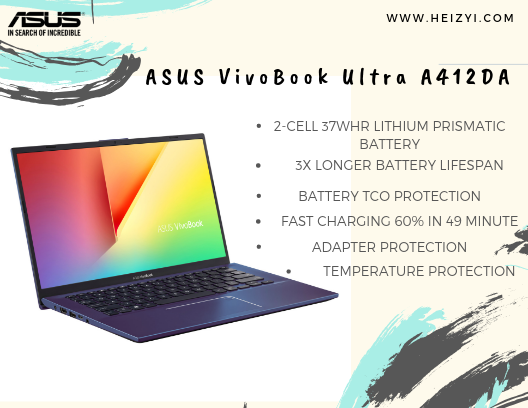 ASUS VivoBook Ultra A412DA 3x battery lifespan