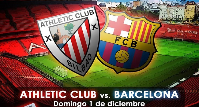 Live Streaming Athletic Bilbao vs Barcelona 29 Oktober 2017
