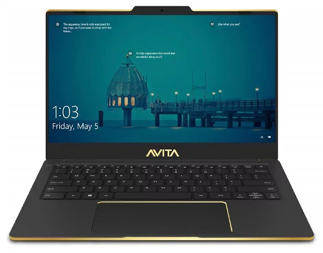 AVITA Liber NS14A8INF561-PAF 14-inch Laptop (10th Gen Core i5-10210U/8GB/512GB SSD/Window 10 Home/Integrated Graphics), Golden Matt Black, Special Edition