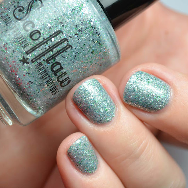 silver nail polish swatch