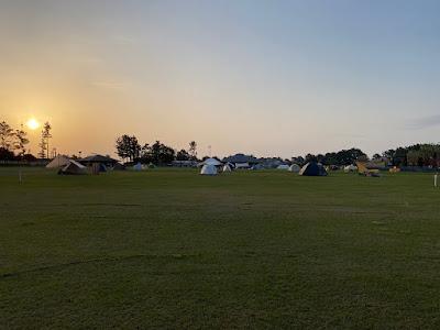 朝日が昇る渚園キャンプ場