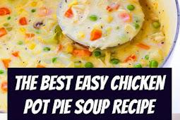 Easy Chicken Pot Pie Soup Recipe #chicken #potpie #soup #chickenpotpie #comfortfood #dinner