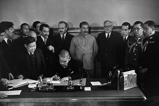 World War Two Daily: April 13, 1941: Soviet-Japanese Pact