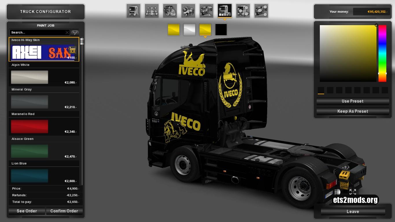 Custom Skin for Iveco Hi Way