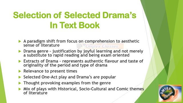 Selection of Selected Drama's In Text Book
