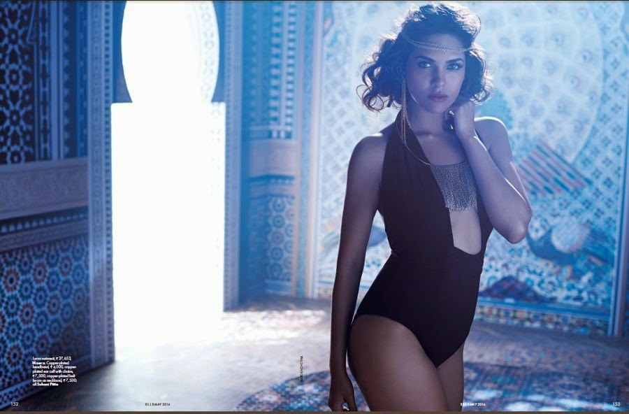 Esha Gupta's Sexiest Bikini Photo-shoot from Elle Magazine