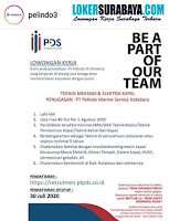 Open Recruitment di PT. Pelindo III (Persero) Surabaya Juli 2020