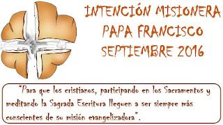 intención misionera papa Francisco, misiones