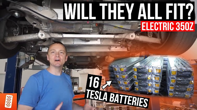 Throtl Media And Content Evo Viii Hits The Track   Mounting Batteries Into The Tesla Model Z
