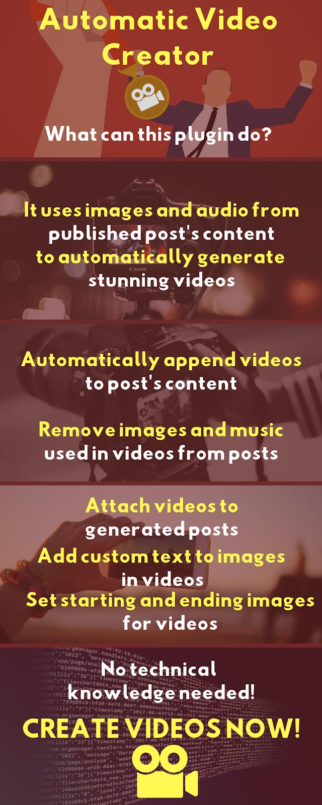 Automatic Video Creator Plugin Preview