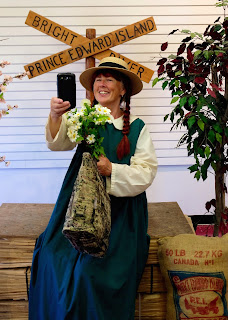 Dressing up as Anne in Prince Edward Island. Photograph of Janie Robinson, Travel Writer