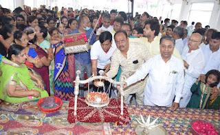 श्री मोहनखेड़ा महातीर्थ में प्रभु महावीर का जन्म वाचन हर्षोल्लास से हुआ