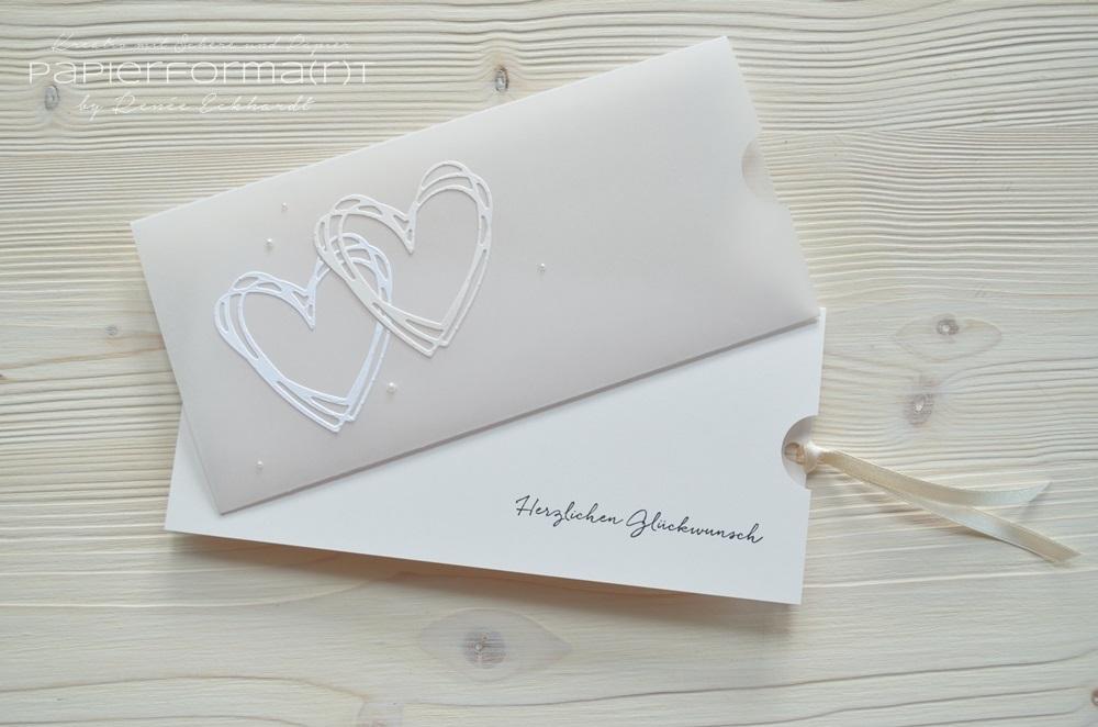 Papierforma R T Hochzeitskarte In Seidenglanz Und Pergament