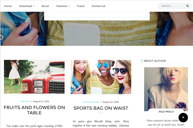 Brownie Grid Blogger Template
