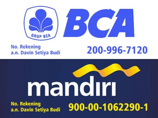 Rekening BCA Mandiri - Travel Banyuwangi