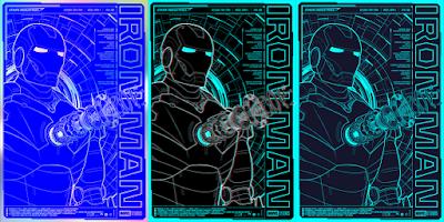 Iron Man Blueprint Screen Print by Bruce Yan x Grey Matter Art