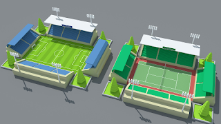 Stadium kit Low Poly Assets