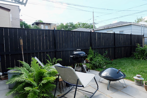 solid color stain fence black new