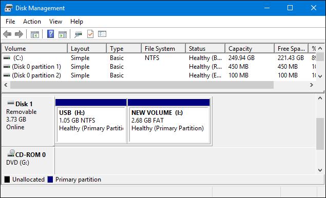 كيفية تقسيم الفلاشة لأكثر من بارتيشن بدون برامج 7.PNG