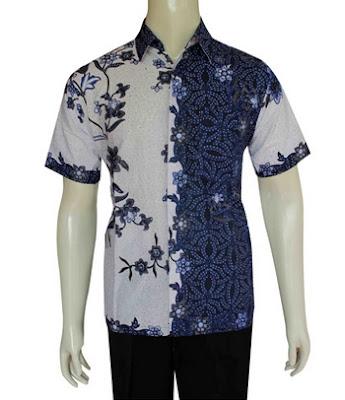 Contoh kemeja batik modern pria