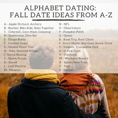 alphabet dating idei e