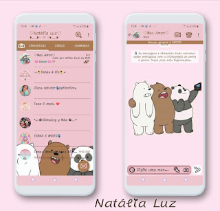 Teddy Bear & Panda Theme For YOWhatsApp & Fouad WhatsApp By Natalia Luz