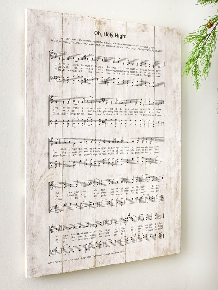 Vintage inspired  Oh, Holy Night sign