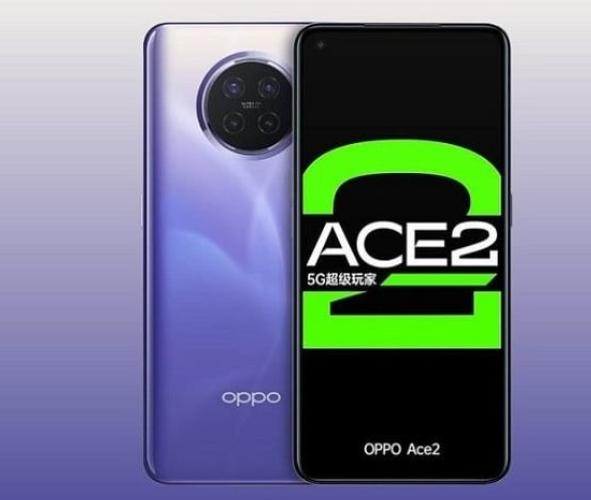 Oppo Ace2 tampak depan dan tampak belakang