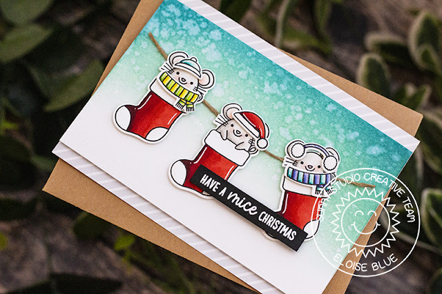 Sunny Studio Stamps: Merry Mice Punny Holiday Card by Eloise Blue
