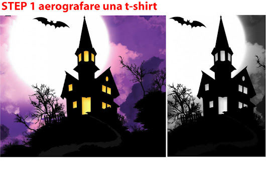 step by step, aerografare una t-shirt