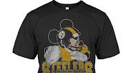 Pittsburgh Steelers Junk Food Disney Mickey T-Shirt