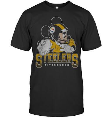 Pittsburgh Steelers Junk Food Disney Mickey T-Shirts