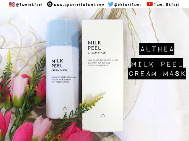 [REVIEW] Althea Milk Peel Cream Mask | Masker Busa?