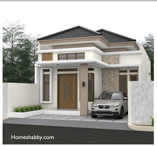 Inspirasi Desain dan Denah Rumah Minimalis Dengan Atap ...