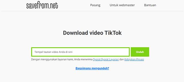 Cara Download Video TikTok Tanpa Aplikasi Secara Online SaveFromNet