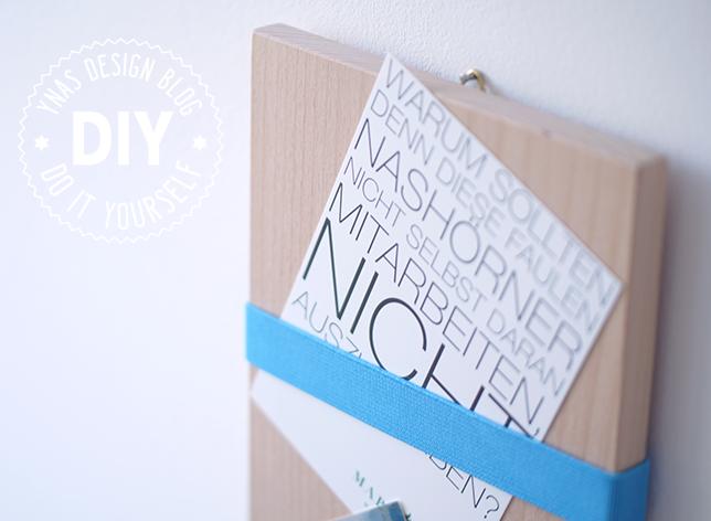 Ynas Design Blog | DIY Klemmboard für Memos und Karten