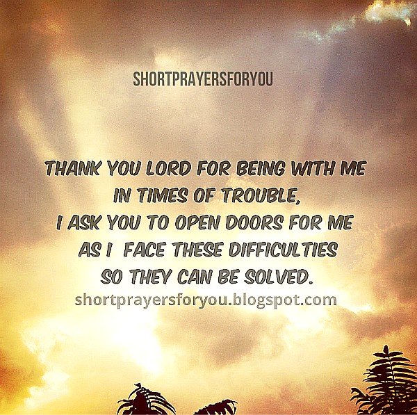 Short prayer when I face problems, You help me Lord