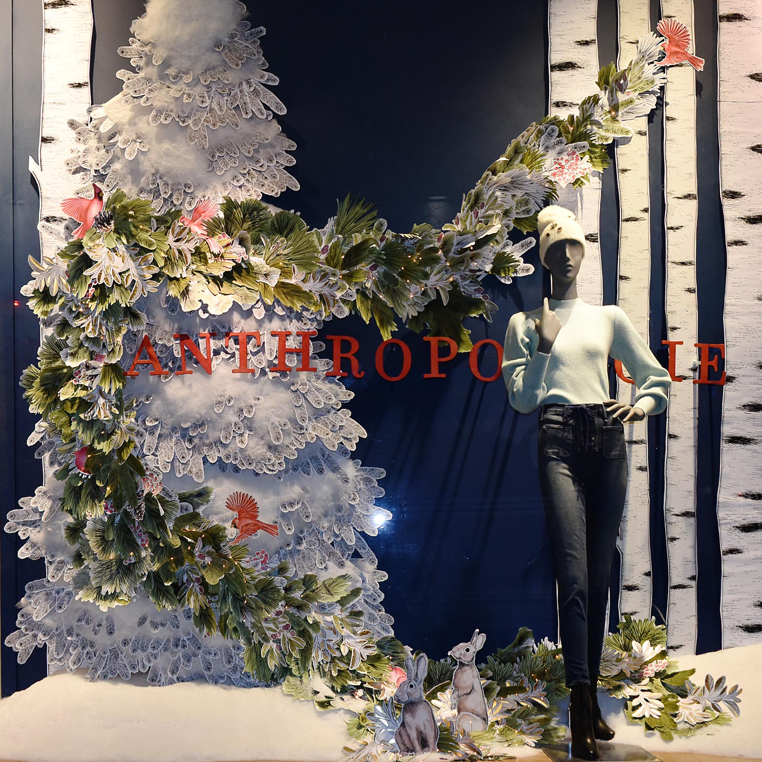 2018 Anthropologie Christmas Window Display