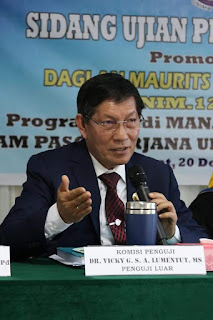 Bukan Sebagai Walikota. GSVL Jadi Penguji Sidang Promosi Doktor di Unima