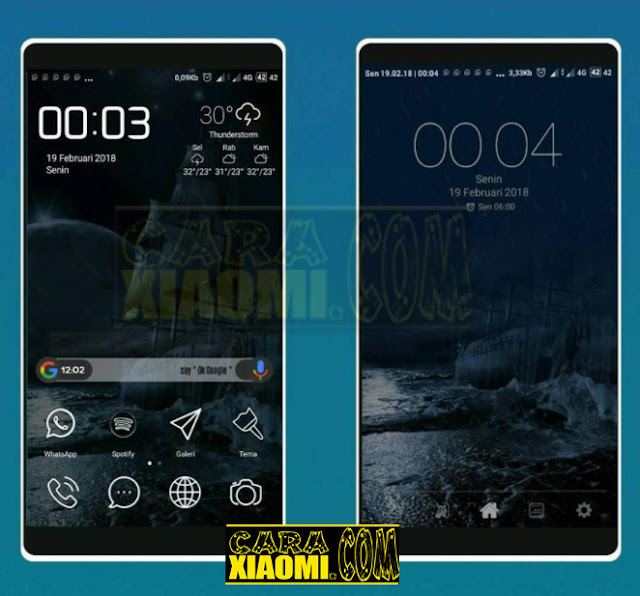 MIUI Theme Shipwreck Mtz For Xiaomi with StatusBar Transparent and Lockscreen Animation