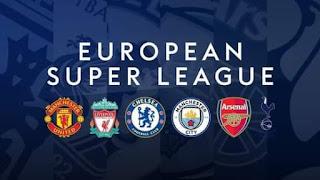دوري السوبر الأوروبي، السوبر ليج، مانشستر سيتي، أرسنال،مانشستر يونايتد، توتنهام، ليفربول، تشيلسي
