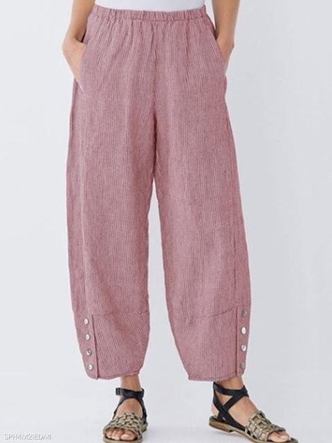 Stylish loose-fitting individual pants