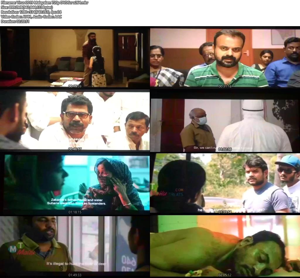 Virus 2019 Malayalam 720p DVDScr x264 | 480p 300MB | 100MB HEVC Screenshot