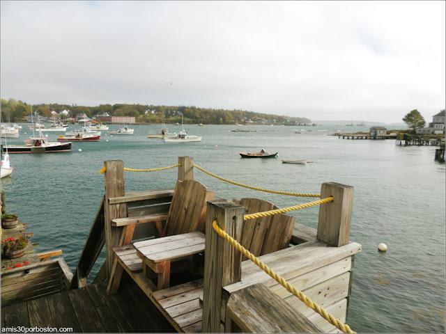Vistas desde Thurston's Lobster Pound en Maine