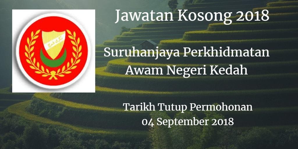 Jawatan Kosong SPN Kedah 04 September 2018