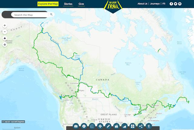 Stien begyndte som en ide og som Trans Canada Trail. Nu er den der og omdøbt til The Great Trail
