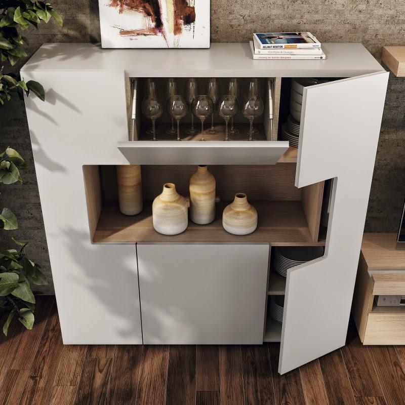 Encantador Cocina Muebles De Almacenamiento De Buffet Colección ...