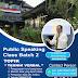 Sekolah Public Speaking dan Broadcsting Indonesia/Public Speaking Institute kembali membuka kelas baru untuk angkatan 2 Tahun 2021