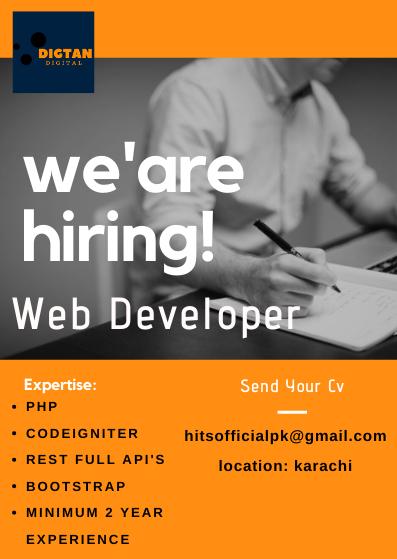 Web Developer & Graphic Designer Required in Karachi